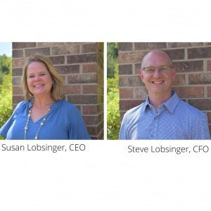 Susan Lobsinger, CEO on left and Steve Logsinger, CFO on right