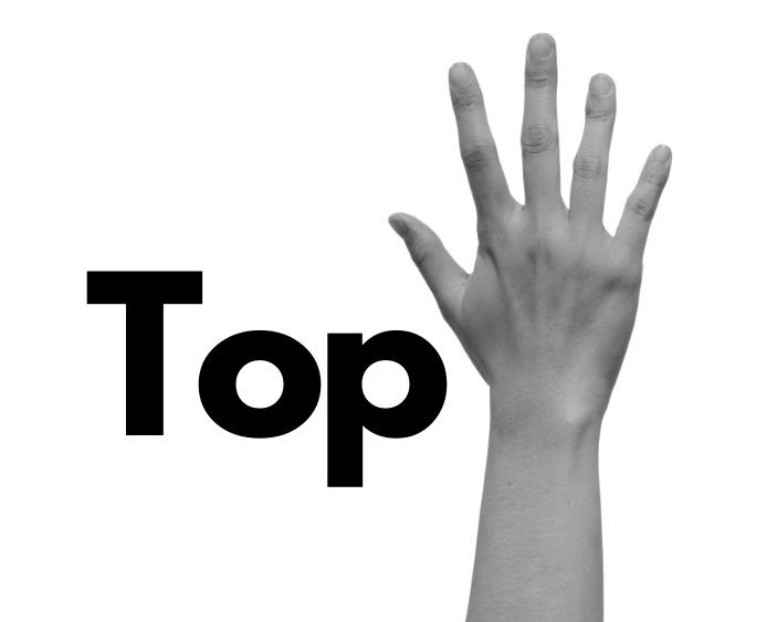 Word top and high five hand for top 5 to know about drug test